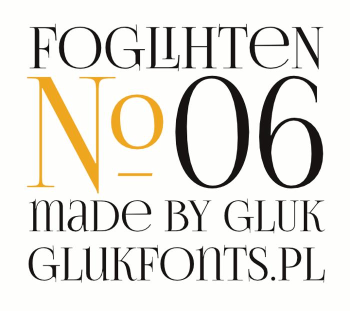 FoglihtenNo06 Font poster