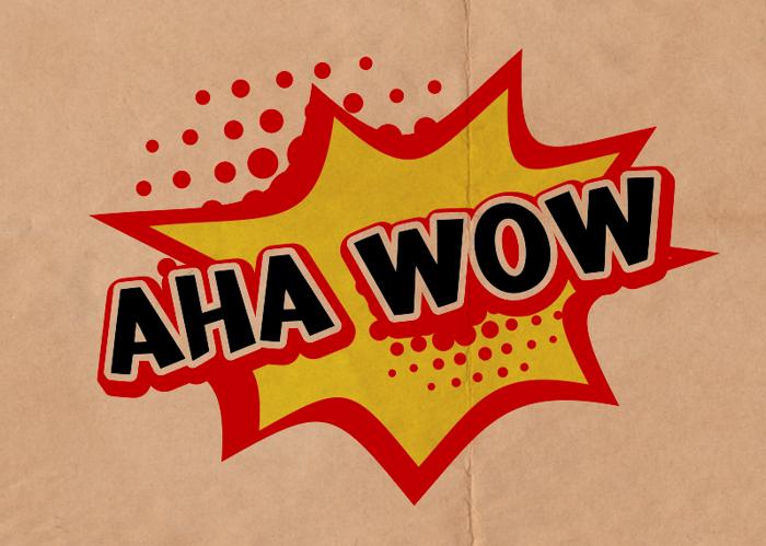 a Aha Wow Font poster