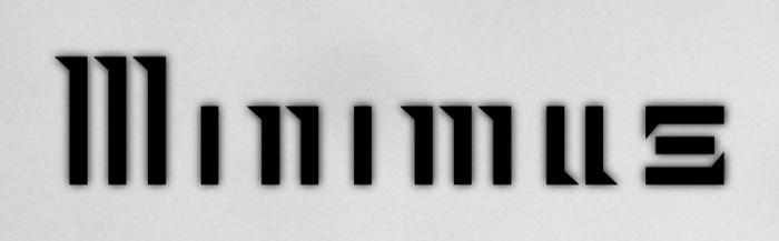 Minimus Font poster