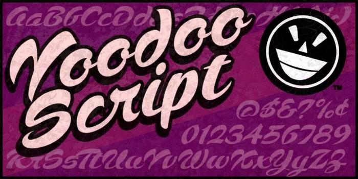 Voodoo Script Font poster