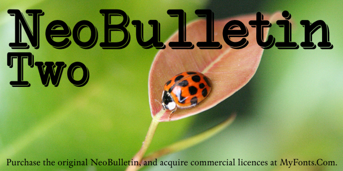NeoBulletin Two Font