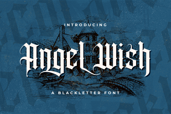 Angel wish Font poster