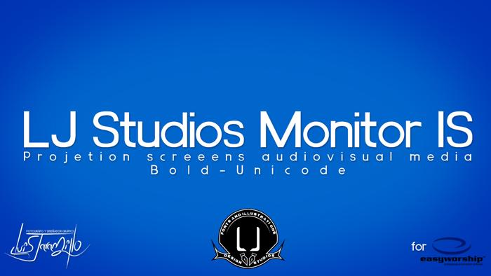 LJ Studios Monitor Large IS Font poster
