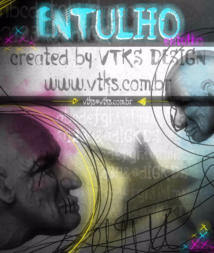 Vtks Entulho Font poster