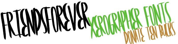 FriendsForever Font poster