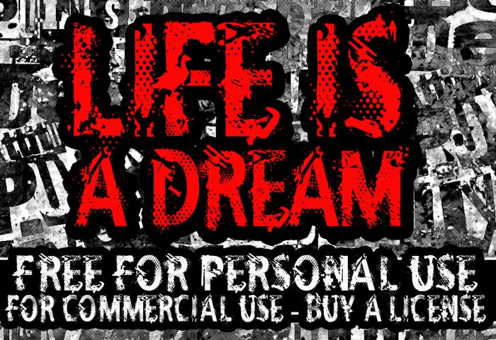 CF Life Is A Dream Font poster