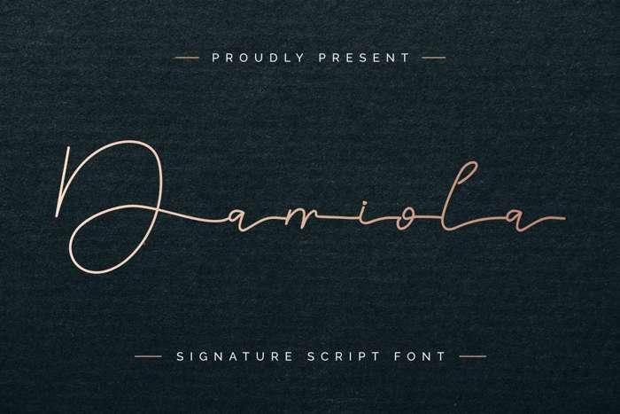Damiola Demo Font poster