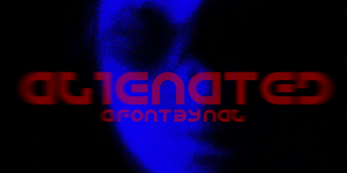 Alienated Font poster