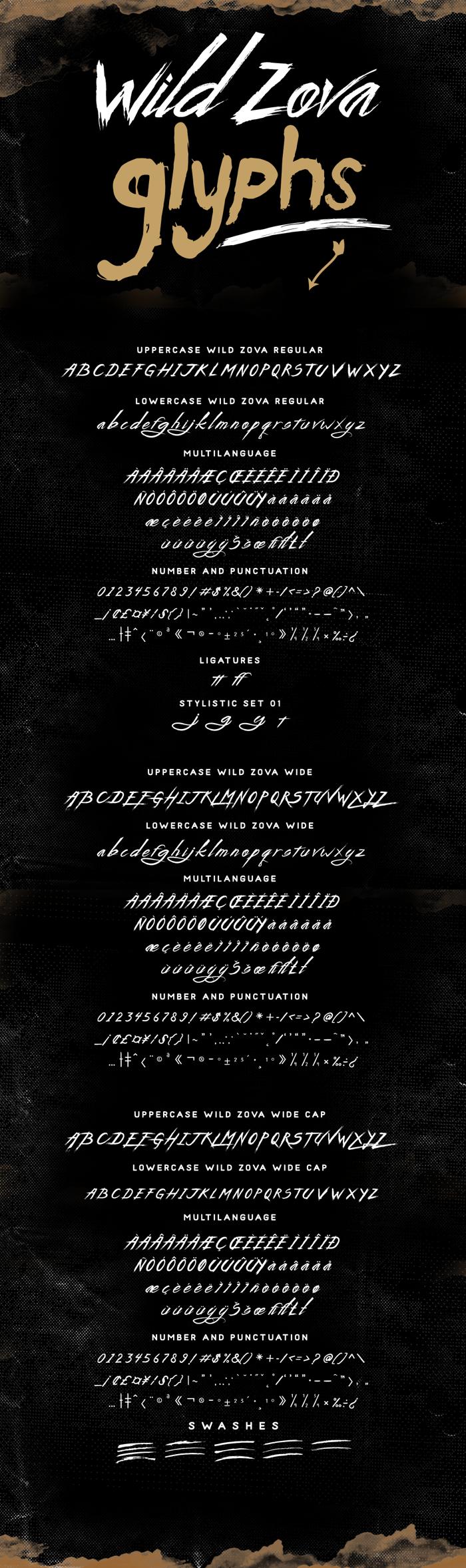 Wild Zova Free Font poster