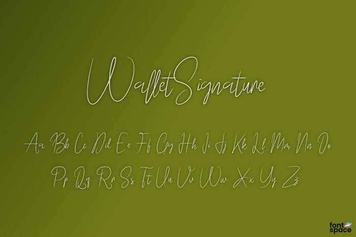 Wallet Signature Font poster