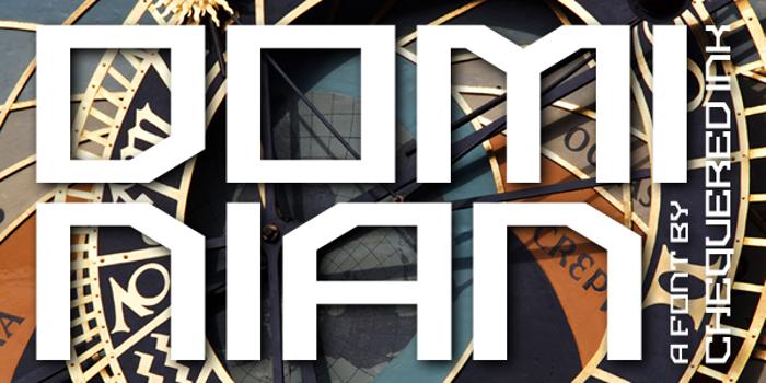 Dominian Font poster