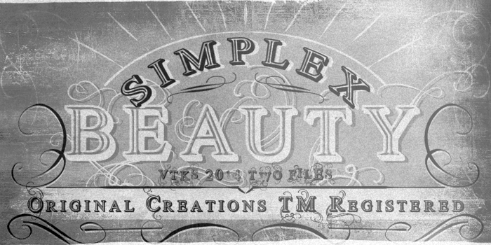 Vtks Simplex Beauty 2 Font poster