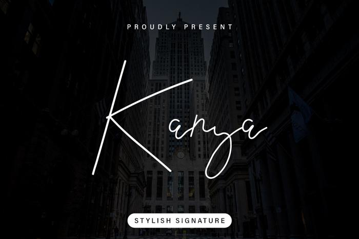 Kanya Font poster