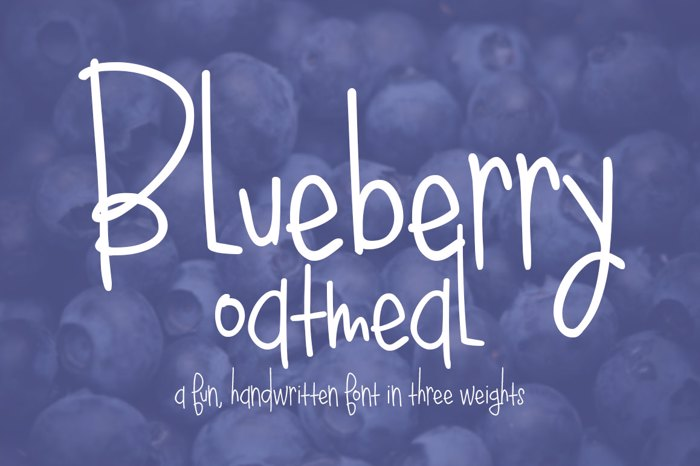 Blueberry Oatmeal Font poster
