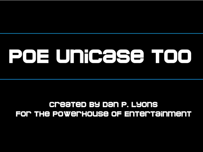 POE Unicase Too Font poster