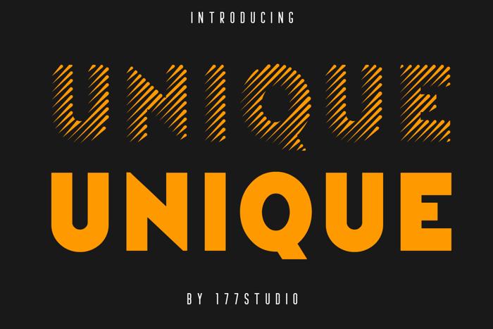 Unique Font poster