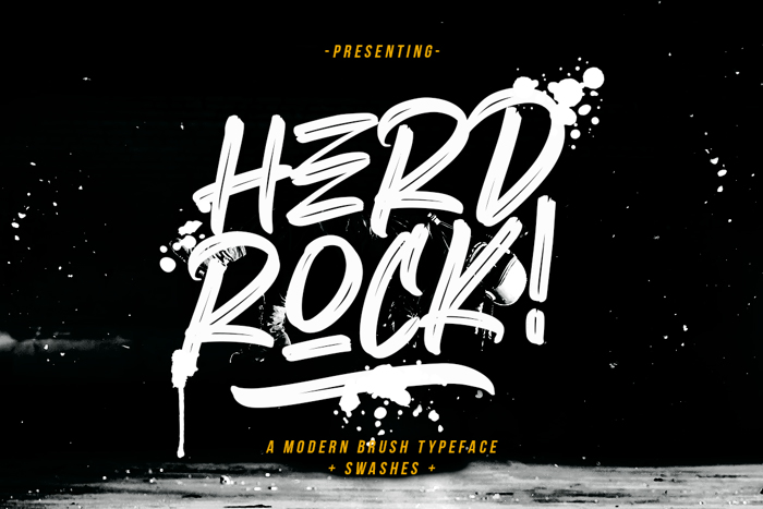 Herdrock Font poster