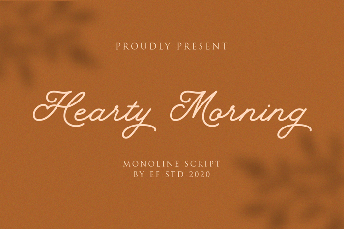Hearty Morning Font poster