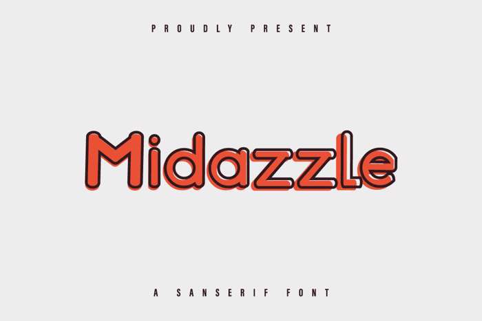 Midazzle Font poster