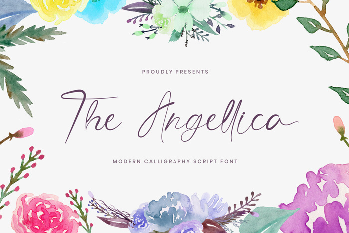 The Angellica Font poster