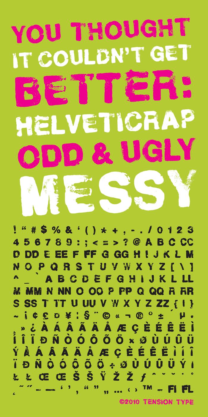 Helveticrap Font poster