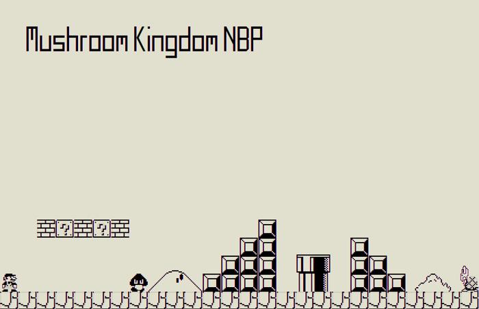 Mushroom Kingdom NBP Font poster