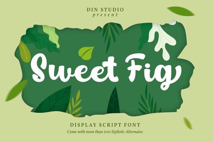 Sweet Fig Font poster