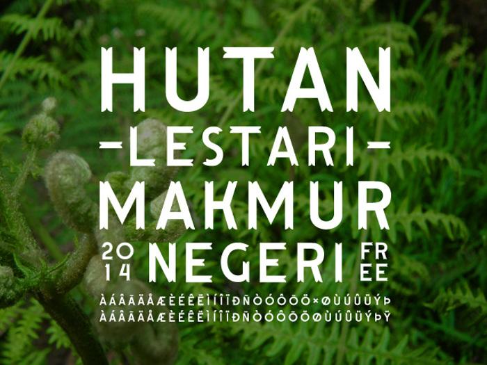 Hutan Lestari Font poster