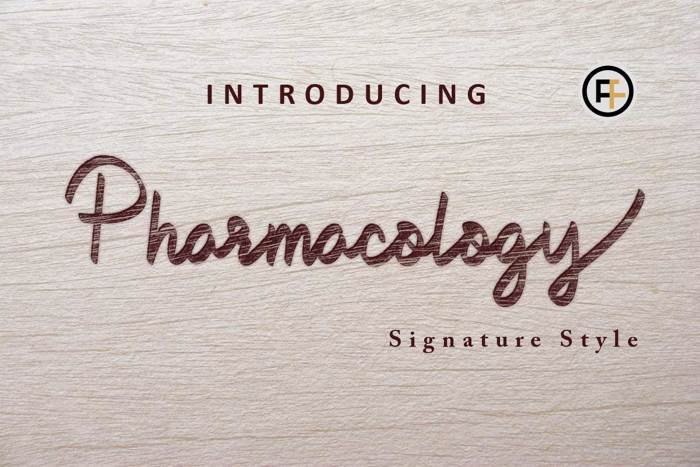 Pharmacology Font poster