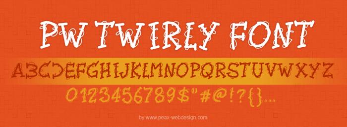 PWTwirly Font