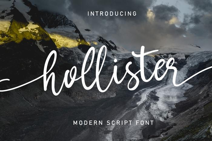 Hollister Font poster