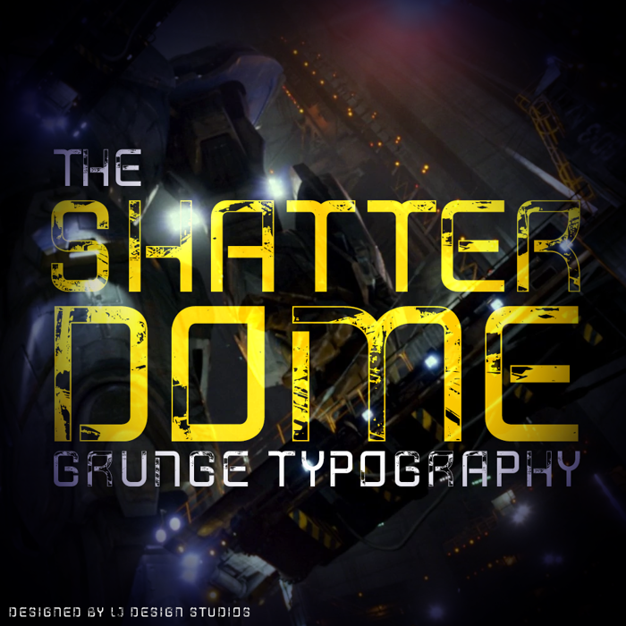 Shatterdome Font poster