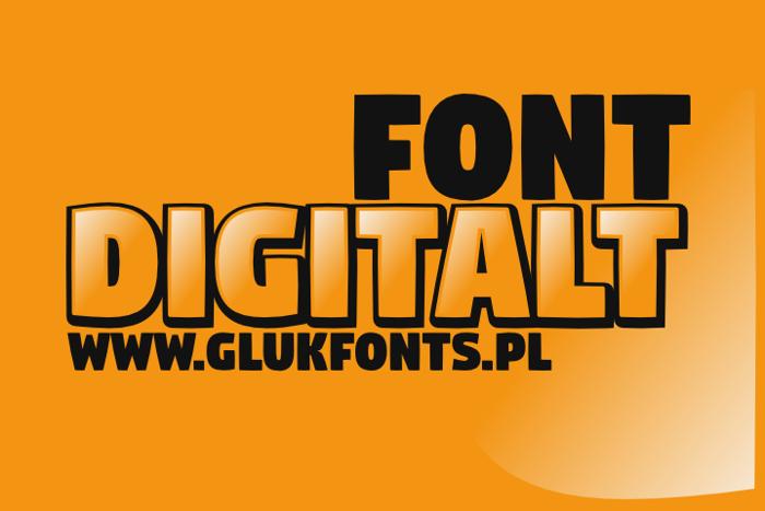 Digitalt Font poster