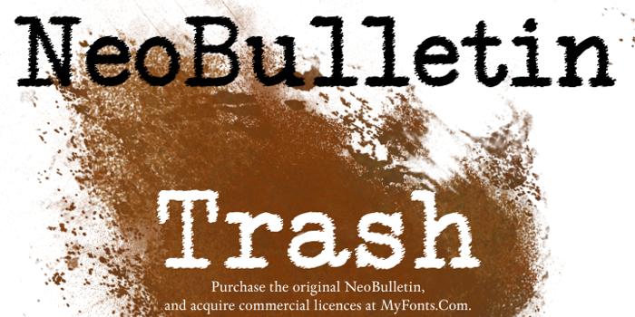 NeoBulletin Font poster