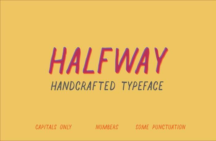 Halfway Font poster