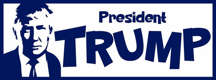 PresidentTrump Font poster