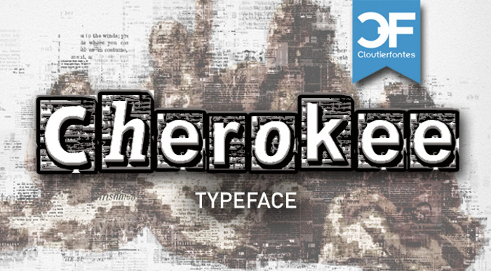 CF Cherokee Font poster