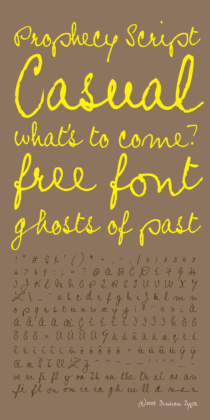 Prophecy Script Font poster