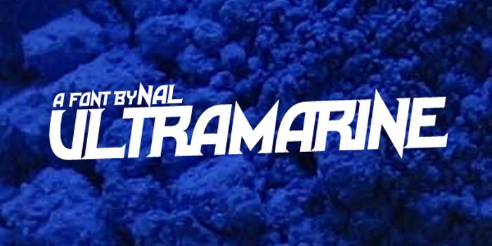 Ultramarine Font poster