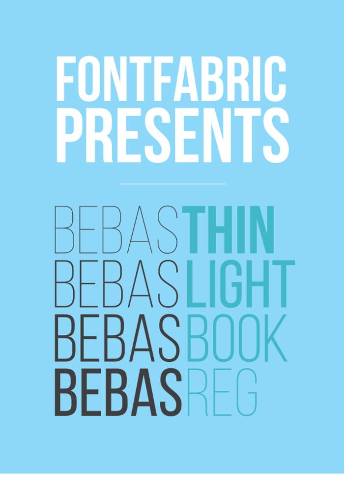 Bebas Neue (2014) Font poster