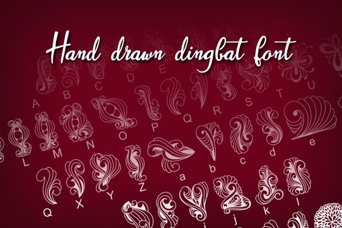 Dings 1 Font poster