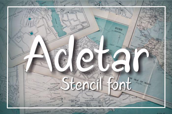 Adetar Font poster