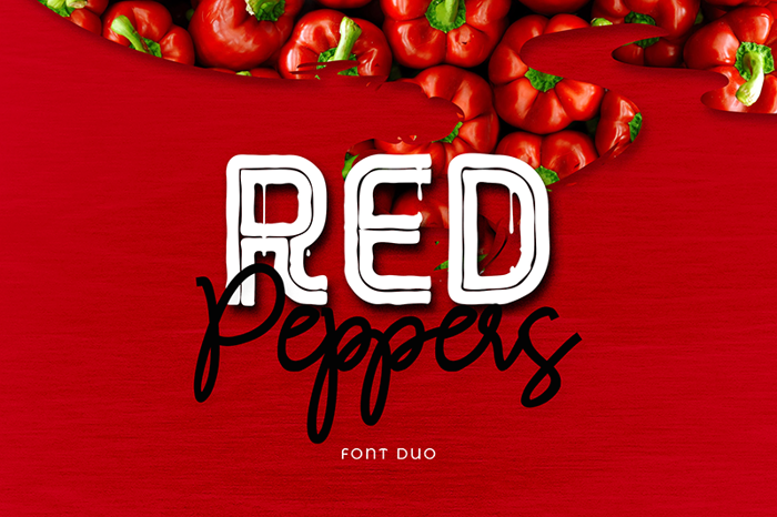 RED Peppers Font poster