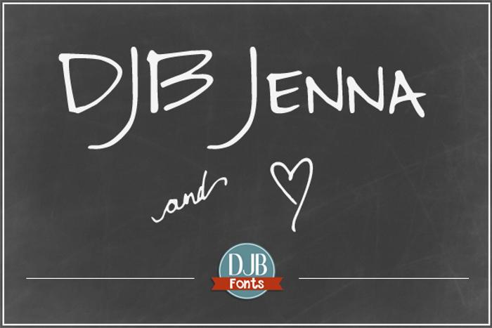 DJB Jenna Font poster