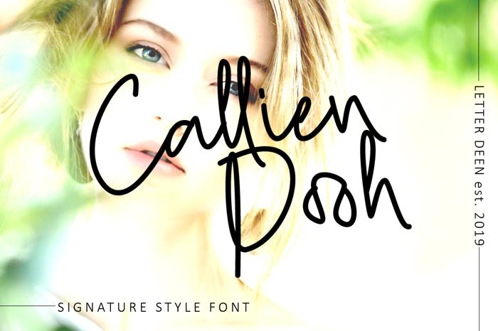 Callien Pooh Font poster