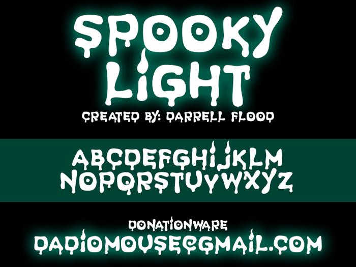 Spooky Light Font poster