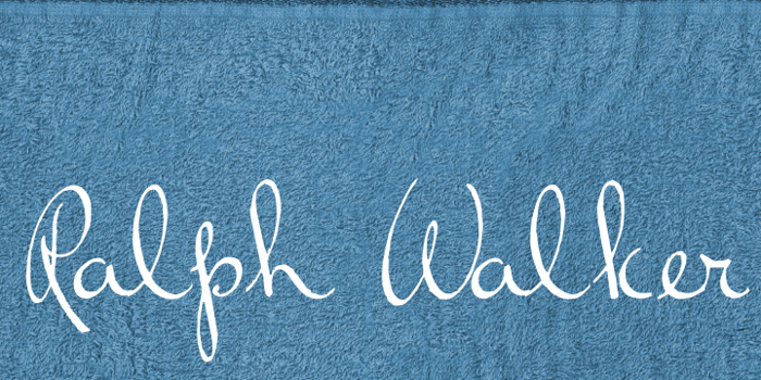 Ralph Walker Font poster