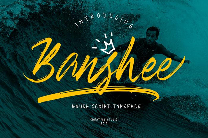 Banshee Font poster