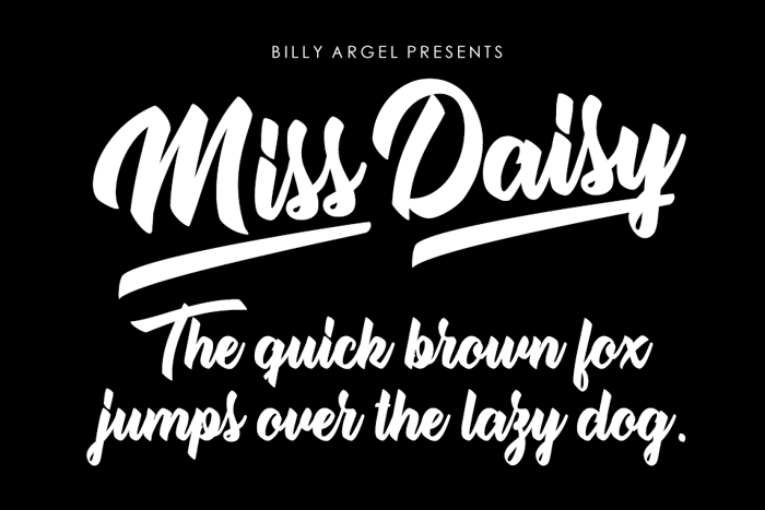 Miss Daisy Font poster