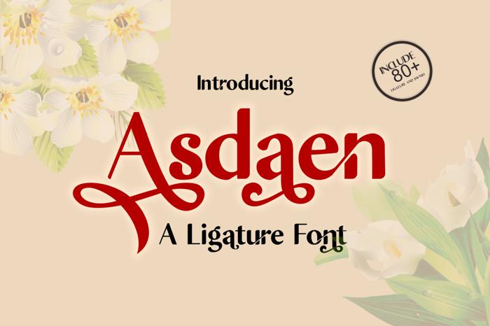 Asdaen Font poster